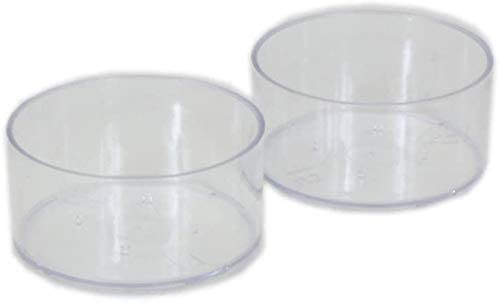 100 pcs Plastic Clear Tealight Cups Holders Candle Wax Tins Jars Cases with 100pcs 40 mm Candle Wicks for DIY Candle Making