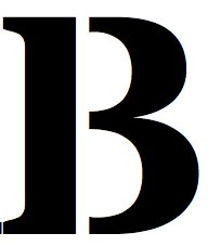 8x10 Large Letter Stencil from 4 Ply Mat Board-Stardos Font-Letter B