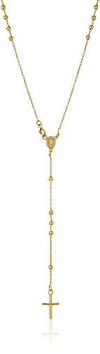 14k Yellow Gold Italian Rosary Necklace, (Italian Rosary Necklace)