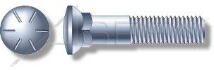 3 Head Grade 8 Steel Zinc Dome Head 5//8-11 X 1-1//2 100 pcs Plow Bolts