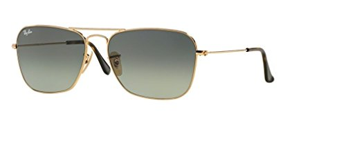 Ray Ban RB3136 181/71 55M Gold/Light Grey Gradient Dark Grey+FREE Complimentary Eyewear Care - Wayfarer Ban Ray Gold