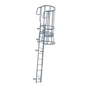 Cotterman M28wc C1 30 Ft 8 Steel Fixed Ladder With Safety Cage