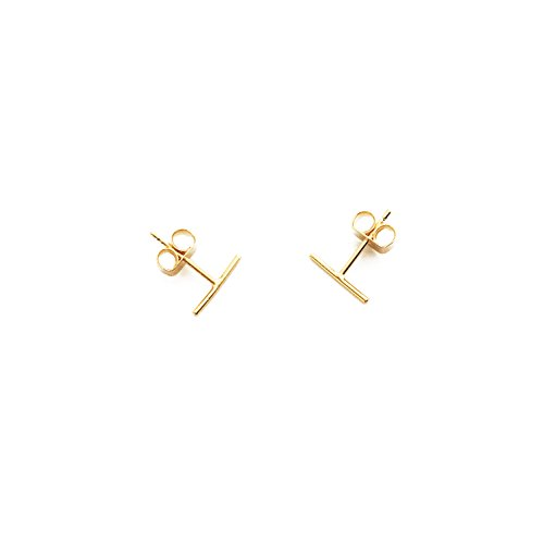 Balance Sweet Bare - HONEYCAT 24k Gold Plated Wire Midi Balance Bar Stud Earrings (Gold)