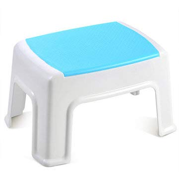 Price comparison product image Household Portable Plastic Stool Chair Blue Rose Skid Step Stool Thickened Little Bench - Living Room Furniture Hot sale Chairs - Shop Best Chairs at Banggood.com - (Blue)