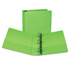 -- Presentation View Binder, Round Ring, 11 x 8-1/2, 2'' Capacity, Lime, 2/Pack