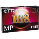 TDK Hi8,120 Pack of 6pc, MP120 Blank Tapes.