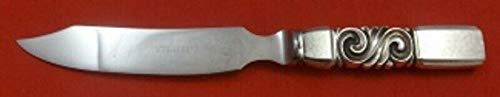 "Scroll by Georg Jensen Sterling Silver Cheese Knife Hollow Handle WS 7 3/4"" Orig"