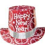 Top New Hat Year Happy (Amscan Happy New Year Prismatic Paper Top Hat | Party Accessory)