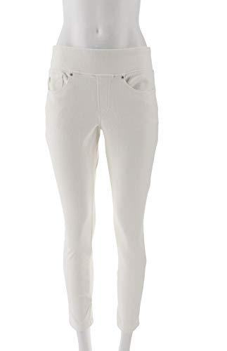 Belle Kim Gravel Flexibelle Pull-On Knit Jeggings White 14P New A284898 from Belle by Kim Gravel