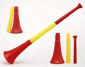 Vuvuzela de España roja y amarilla de 60 cm desmontable: Amazon.es: Ropa y accesorios