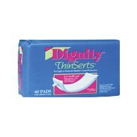 Dignity thinserts liners, model no : 30054 - 40 ea / pack, 6 packs / case by Humanicare International, Inc.