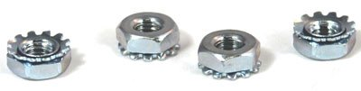8-32 Hex Keps Nuts / 18-8 Stainless Steel / 2,000 Pc. Carton