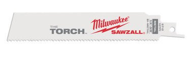MILWAUKEE Super SAWZALL Blade 10T 6in Length TORCH (5PK) Part # 48-00-5712