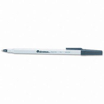 - Universal® Economy Stick Ballpoint Pen PEN,BALLPT,ECONOMY,FNE,BK (Pack of100)