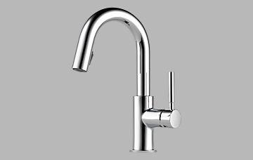 Brizo 63920LF-PC Solna Single Handle Pull-Down Bar/Prep Faucet, - Faucet Prep Brizo