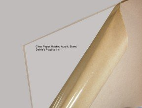 5 Sheets - 1/8'' Clear Cell Cast Acrylic Plexiglass Sheet 12'' x 12'' by Chemcast (Image #1)