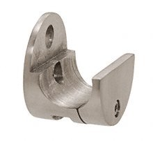 C.R. LAURENCE LS302BS CRL Brushed Stainless Laguna Series Top Sliding Tube Wall Mount Clamp