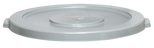 Continental Huskee Snap-On Lid for 44 Gallon Huskee Waste Receptacle, Gray