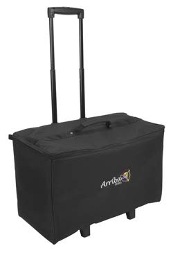 Arriba Padded Multi Purpose Case Acr-22 Bottom Rolling Stackable Case Dims 22X12X15 Inches American Dj Dj Equipment Case