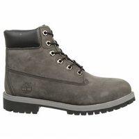 Timberland Kids 6'' Premium Boots Waterproof Grey Nubuck 9590R (Big Kid)