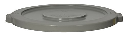"""CMC 1002GY Grey Round Lid, 16"""" Diameter x 1-1/8"""" Height, For 1001 Huskee Receptacles (Case of 6)"""