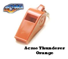 Acme Thunderer Whistle Orange and De luxe Safety Lanyard