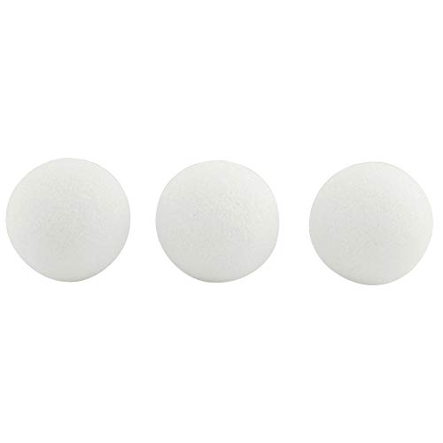 Hygloss Products White Styrofoam Balls for Arts and Crafts – 3 Inch, 12 Pack ()