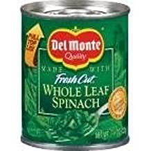 Del Monte Fresh Cut Leaf Spinach 7.75 oz (Pack of 12)