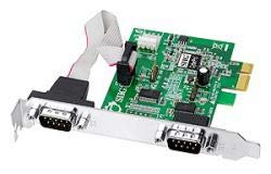 SIIG IO Card JJ-E10D11-S3 CyberSerial Dual PCI Express Dual Bracket Brown Box