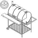 32x22 Pit /& Grill DIY How-to Blueprint 1306 Trailer Plan