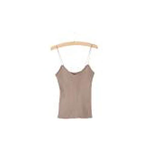 (shine-shine Hot Knit Camisole Vest Stretchable V Neck Straps Tank,x)