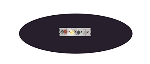 Dice Black Band (PLAYEZZE FELT BONNETS Felt Poker Table Cover - Patio Tablecloth Bonnet with Elastic Band- For Round 36 Inch Table - Patio Table (Black, 48 inch round))