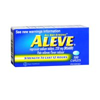 Aleve Pain and Fever Reducer Caplets - 50 ct, Pack of 5