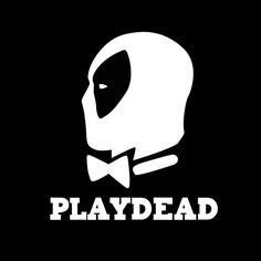 [Play Dead Deadpool Decal Vinyl Sticker|Cars Trucks Walls Laptop|WHITE|5.5 in|KCD500] (Deadpool Costume Variants)
