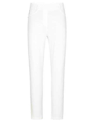 Chicwe Women's Plus Size Ivory Super Stretch Blended Cotton Skinny Leggings Pull On Pants 22 Ivory (Stretch Twill Slip)