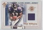Moe Williams (Football Card) 2002 Pacific Private Stock Reserve - Authentic Game-Worn Jersey #17