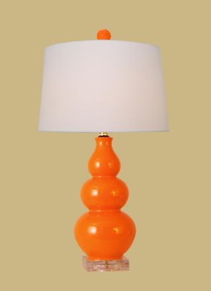 Amazon.com : East Enterprises LPOG1010X Gourd Table Lamp - Orange ...