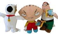 Family Guy Plush Toy Set x 3pcs (Peter Stewie and Brian Plush)