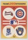 Atlanta Braves Team, Chicago Cubs Team, Kansas City Royals Team, Milwaukee Brewers Team (Lighter Logos) (Baseball Card) 1991 Fleer - Team Stickers Inserts #ACKM.2