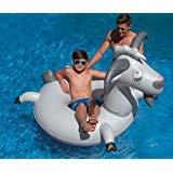 Swimline Inflatable Goat Swim Ring, Grey by Swimline