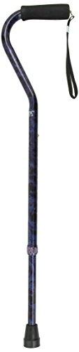 Carex Offset Designer Cane, Blue (Blue Offset Handle)