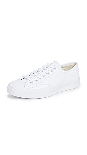 Converse Men's Jack Purcell Gold Standard Leather Oxfords, White, 9.5 M US (Sneakers Jack)