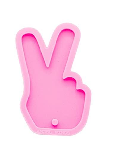 Shiny Peace Silicone Keychain Mold - Peace Sign Silicone Mold - Silicone Keychain mold