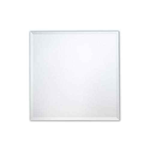 The Better Bevel Frameless Square Wall Mirror | Bathroom, Vanity, Bedroom Square -