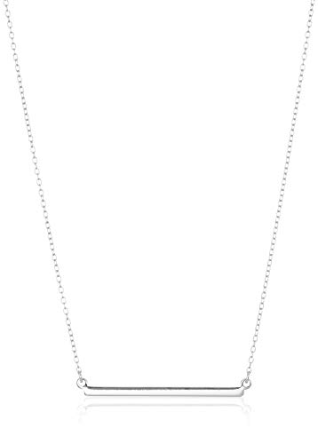 Sterling Silver Horizontal Bar Necklace, 18