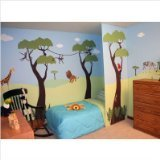 My Wonderful Walls Jungle Wall Stencils for Jungle Theme Wall Mural for Baby Room by MyWonderfulWalls