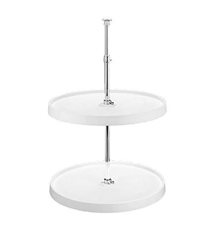 Rev-A-Shelf - 6012-18-11-52 - 18 in. White Polymer Dependent 2-Shelf Full Circle Lazy Susan Set