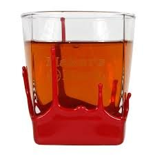 Maker`s Mark Bourbon Whisky Dipped Red Wax Seal Classic Rocks Glass ()