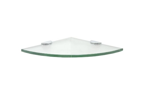 10 Glass Shower Shelf Kit With Round Clamps