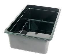 Cambro 16CW-110 Black Camwear Full Size Food Pan, 6
